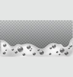 Soap foam fresh laundry white bubbles shampoo vector
