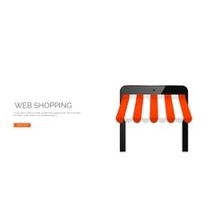 Tablet online store vector