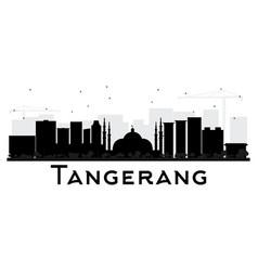 Tangerang indonesia city skyline silhouette vector