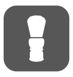 The shaving brush icon Shaver symbol Flat vector image