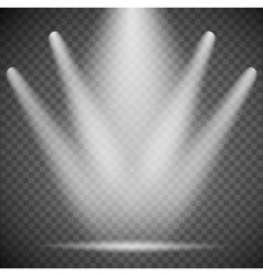 transparent spotlights vector image