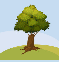 tree background abstract landscape cartoon vector image