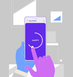Trendy responsive meditation and mood ui with 3d vector