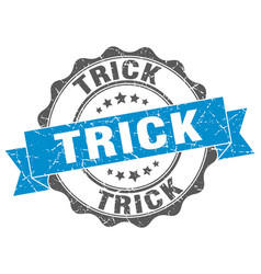 Trick stamp sign seal vector