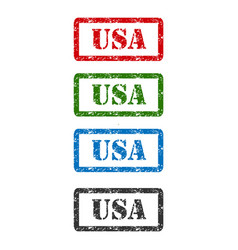 Usa set rubber stamp isolated on background vector