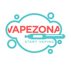 Vapezone start vaping logo isolated on white vape vector