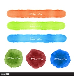 Watercolor set vector image