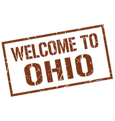 Welcome to ohio stamp vector