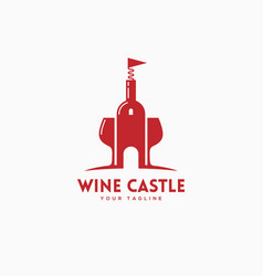 wine castle logo vector image