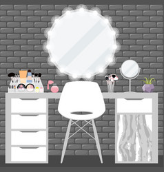 With make-up table chair vector