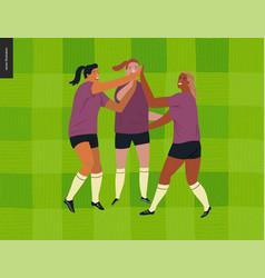 Womens european football soccer player vector