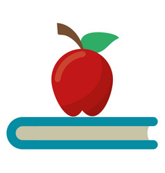 Apple book school symbol vector