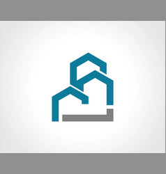 building construction shape logo vector image vector image
