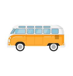 classic retro bus isolated vector image