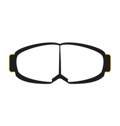goggles isolated on white background vector image vector image