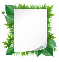 paper on grass vector image