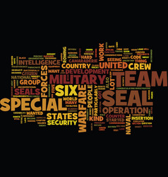 the military us team six text background word vector image vector image