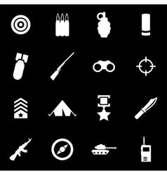 white military icon set vector image