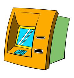 atm icon cartoon vector image