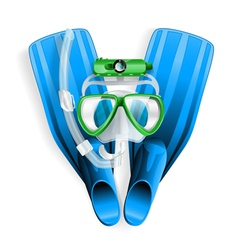 diving equipment 01 vector image vector image