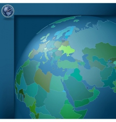 geography world vector image vector image