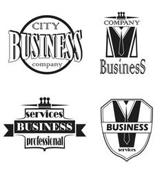 Set of elements for logo design vector image