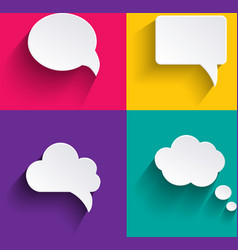 speech bubbles in flat design with shadows vector image vector image