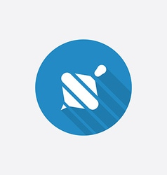 whirligig Flat Blue Simple Icon with long shadow vector image