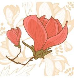 Beautiful magnolia flower vector image vector image