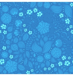 Floral doodle wallpaper seamless pattern vector image vector image