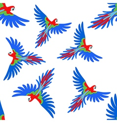 Macaw parrot seamless pattern vector