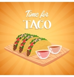 Tacos mexican food vector