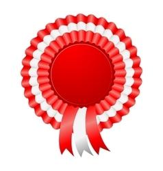 USA patriotic award ribbon rosettes vector image