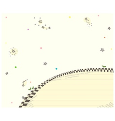 Abstract Stars Floral Background vector image vector image