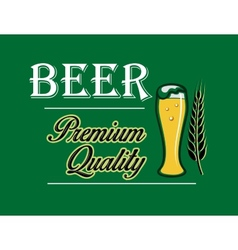 Beer and brewery emblem vector image vector image