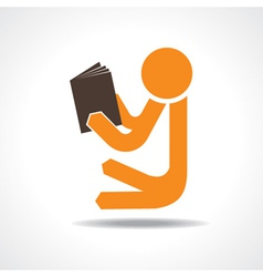 Book reading concept vector image