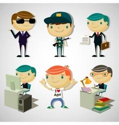 Cartoon boys vector image