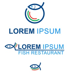 FISH RESTAURANT vector image