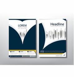 flyer design template leaflet cover presentation vector image
