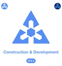 Logo conception of development and construction vector image vector image