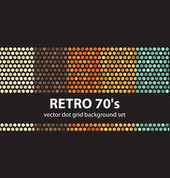 polka dot pattern set retro 70s seamless vector image vector image