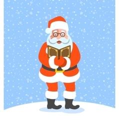 Santa Claus singing Christmas carols vector image