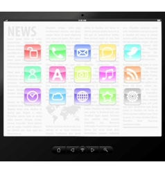 set icons on screen vector image vector image
