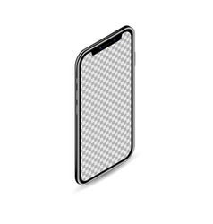 3d realistic isometric smartphone template mobile vector image