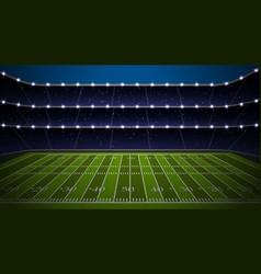 American football stadium vector