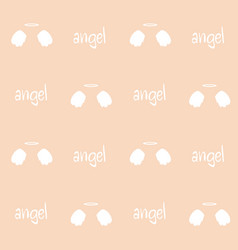 angel wings on pink background vector image