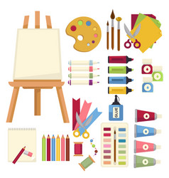 art creation special equipment to paint and draw vector image