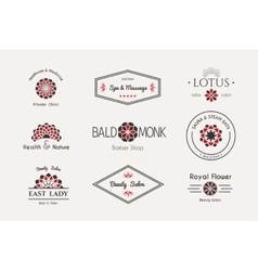 Asian logo templates vector