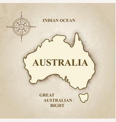 Australia australian map retro background vector