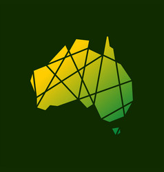 australia tech connection logo icon vector image